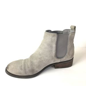 Cole haan booties gray suede Chelsea ankle 8